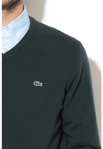Lacoste Вълнен пуловер с шпиц деколте Мъже