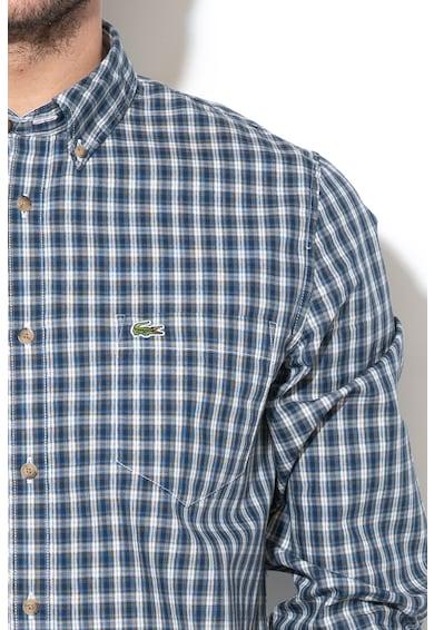 Lacoste Карирана риза с копчета на яката Мъже
