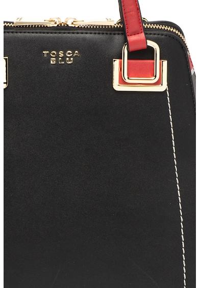 Tosca Blu Geanta convertibila de mana, din piele ecologica cu cusaturi contrastante Giorgia Femei