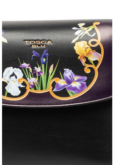 Tosca Blu Geanta de piele cu bareta de umar si imprimeu floral Iris Femei