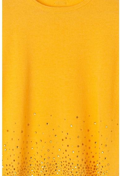 Liu Jo Pulover din amestec de lana si lyocell cu strasuri Fete