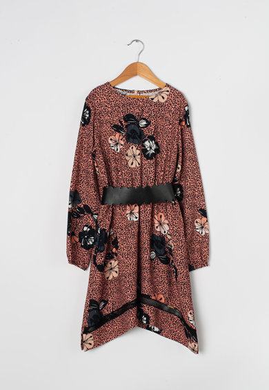 Liu Jo Къса симетрична рокля с дантела Момичета