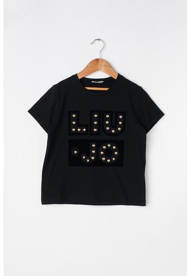 Liu Jo Tricou cu imprimeu logo si aplicatii cu nituri Fete