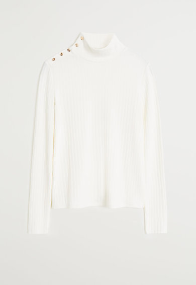 Mango Пуловер с декоративни копчета Жени