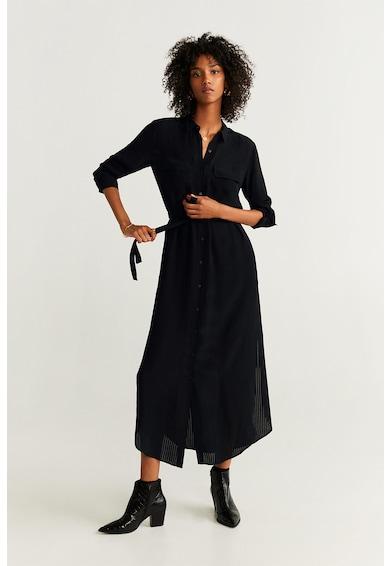 Mango Къса рокля тип риза Ningbox с връзка Жени