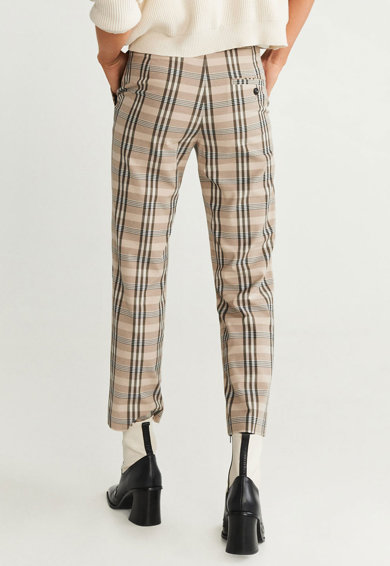 Mango Pantaloni cu model in carouri Alexa Femei