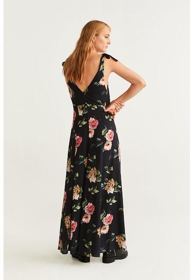 Mango Разкроена рокля Delhi с флорален десен Жени