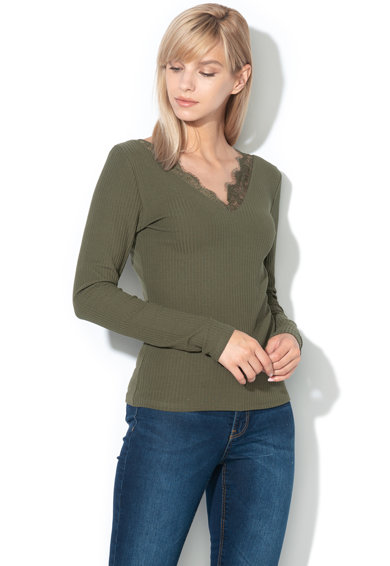 Only Рипсен пуловер Alisa с дантела Жени