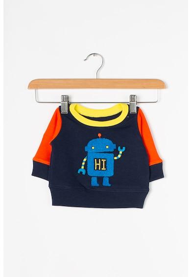 GAP Bluza sport cu model colorblock si aplicatie din material terry Baieti