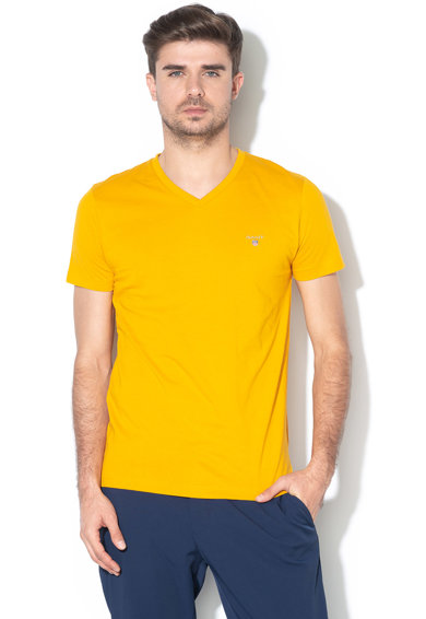 Gant Tricou slim fit cu decolteu in V The Original Barbati