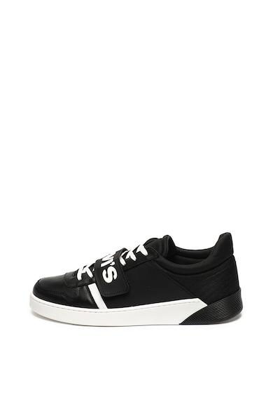 Levi's Pantofi sport de piele si material textil cu velcro cu logo Mullet Barbati