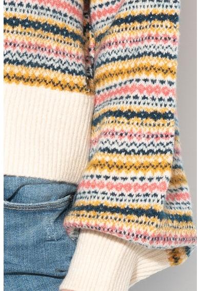 Pepe Jeans London Pulover cu guler inalt si model in dungi Lena Mock Femei