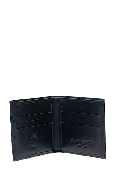 U.S. Polo Assn. Portofel pliabil de piele cu cusaturi decorative Barbati