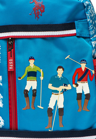 U.S. Polo Assn. Rucsac cu imprimeu logo Baieti