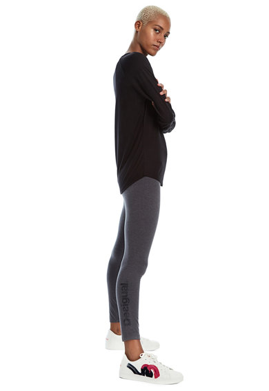 DESIGUAL Bluza din modal cu imprimeu logo Femei