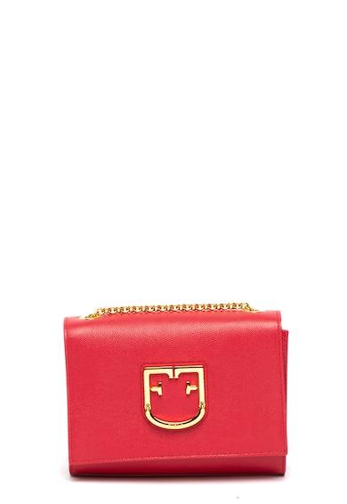 Furla Кожена чанта през рамо Viva с лого Жени