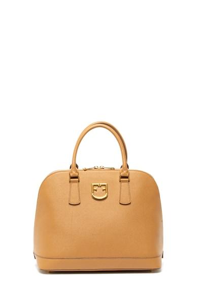 Furla Кожена чанта Fantastica с релефна повърхност Жени