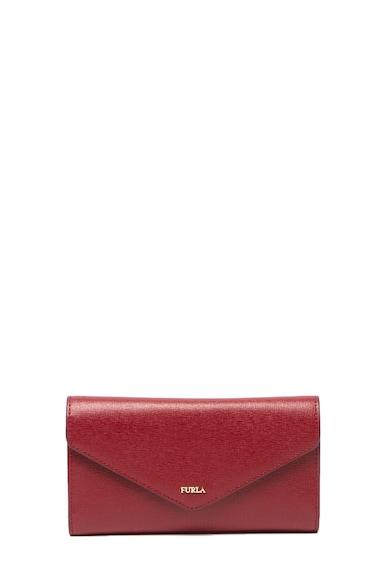 Furla Babylon texturált bőr pénztárca logóval női