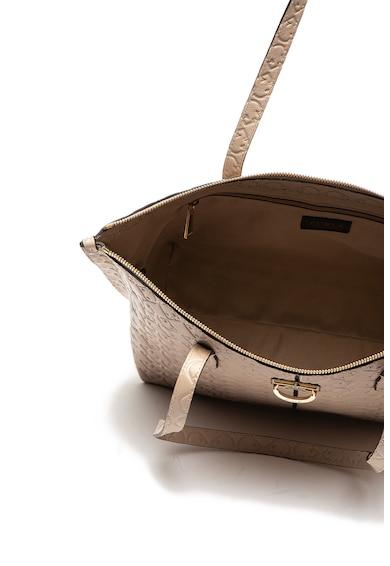 Furla Кожена чанта Luce с десен на лога Жени