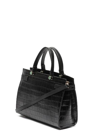 Furla Кожена чанта за рамо Lady с шагрен Жени