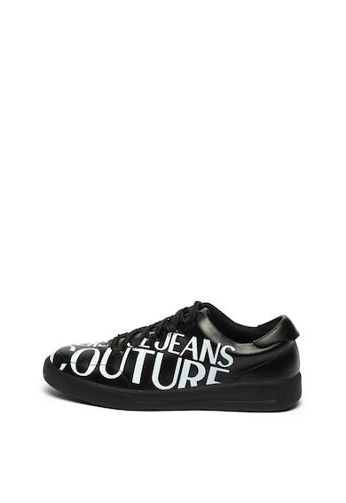Versace Jeans Couture Кожени спортни обувки с лого Мъже