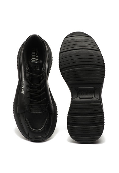 Versace Jeans Couture Pantofi sport de piele cu garnituri de piele ecologica Barbati
