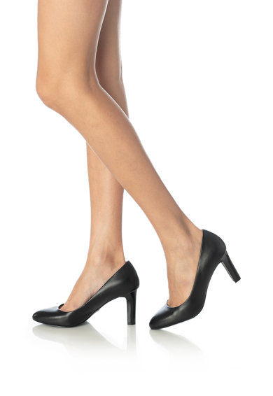 Tamaris Pantofi de piele cu varf migdalat si tehnologie AntiShokk Femei