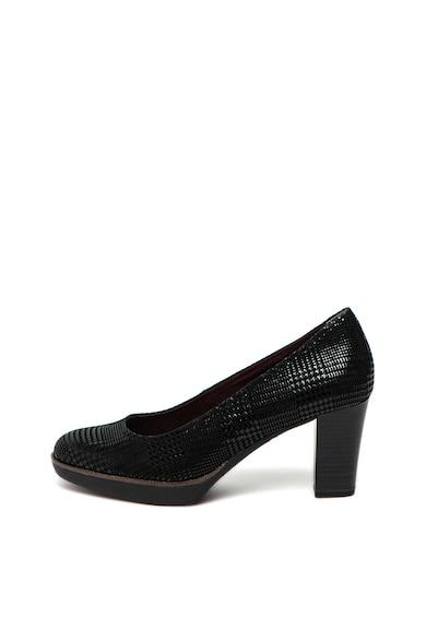 Tamaris Pantofi de piele cu toc masiv Femei