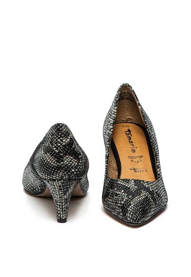 Tamaris Pantofi de piele cu model piele de reptila Femei