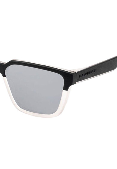 Hawkers Ochelari de soare patrati unisex, cu lentile oglinda Chrome Motion Barbati