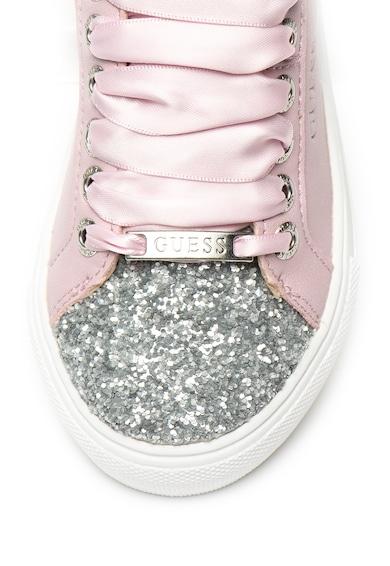 Guess Pantofi sport de piele ecologica, cu paiete Fete