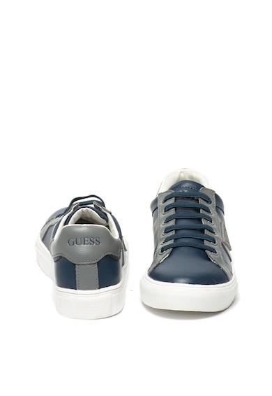 Guess Pantofi sport de piele, cu sireturi elastice Baieti