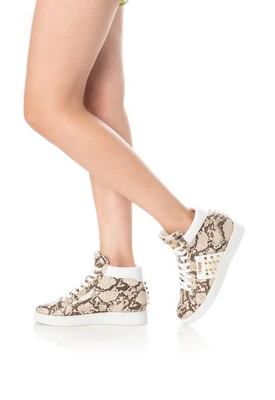 Guess Pantofi sport mid-high cu aspect piele de sarpe Femei