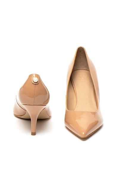 Guess Pantofi de piele lacuita, cu toc kitten Femei