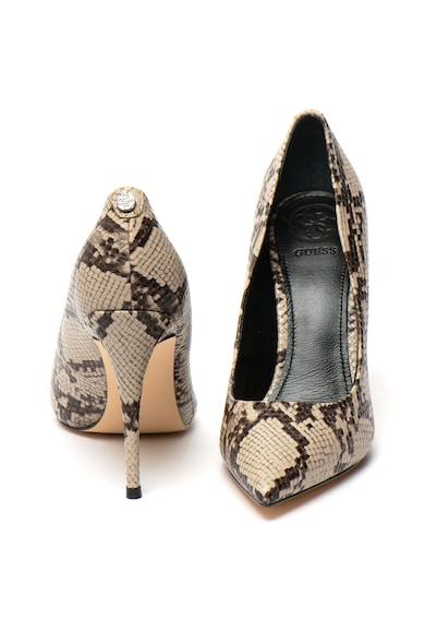 Guess Pantofi stiletto cu aspect de piele de sarpe Femei