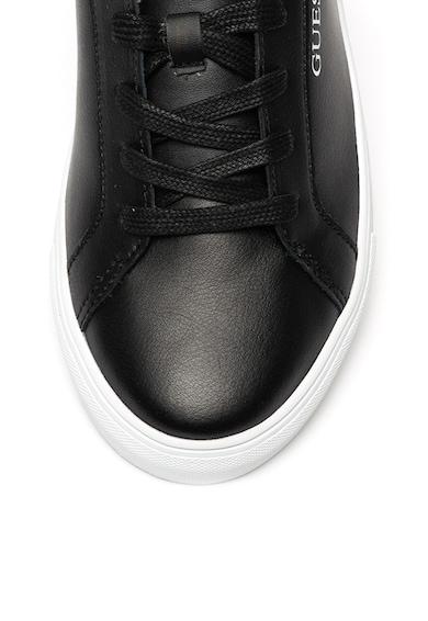 Guess Pantofi sport de piele, cu garnituri de piele ecologica Barbati