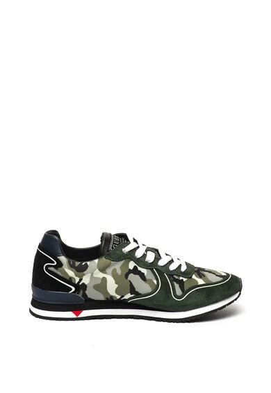 Guess Pantofi sport cu model camuflaj si insertii de piele Barbati