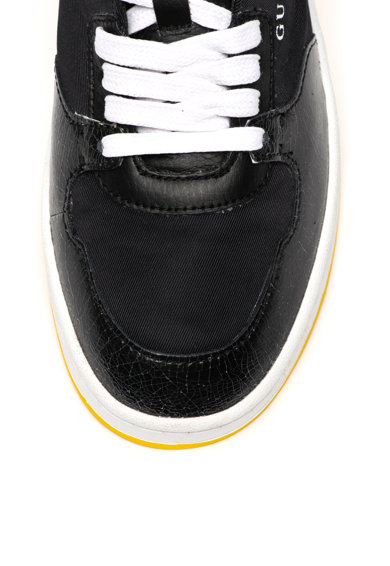 Guess Pantofi sport de piele, cu insertii din material textil Barbati