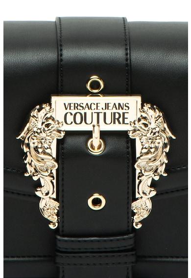 Versace Jeans Couture Geanta de piele ecologica, cu bareta de umar si detaliu cu catarama Femei