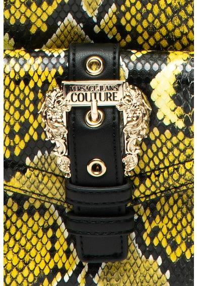 Versace Jeans Couture Rucsac de piele ecologica, cu model piele de reptila Femei