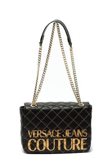 Versace Jeans Couture Geanta de umar, de piele ecologica, cu imprimeu logo metalizat Femei