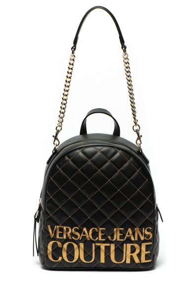 Versace Jeans Couture Rucsac de piele ecologica, cu imprimeu logo metalizat Femei