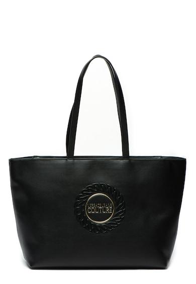 Versace Jeans Couture Geanta shopper de piele ecologica, cu logo in relief Femei
