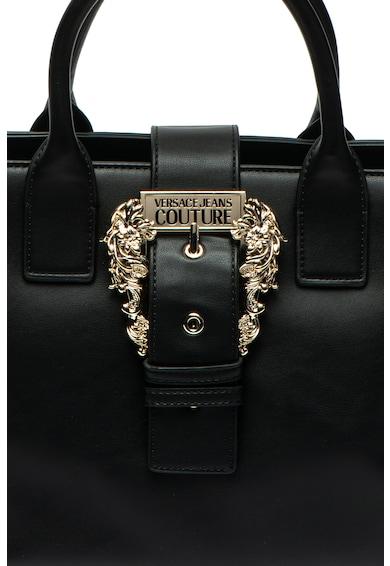 Versace Jeans Couture Geanta de mana, de piele ecologica, cu detaliu catarama Femei