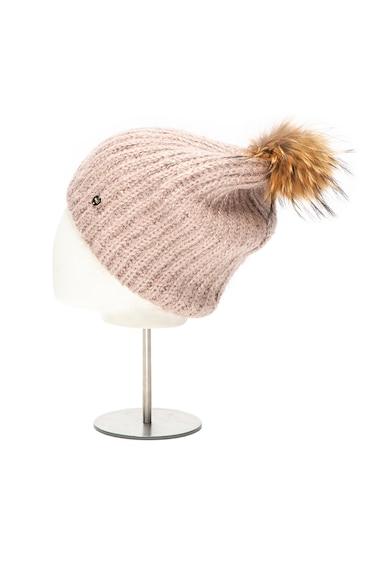 Liu Jo Caciula din tricot cu ciucure din blana de raton Femei
