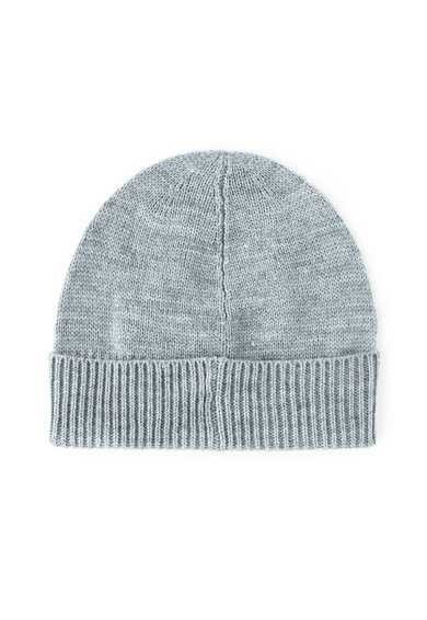 Guess Caciula elastica din amestec de lana, cu aplicatie logo Barbati