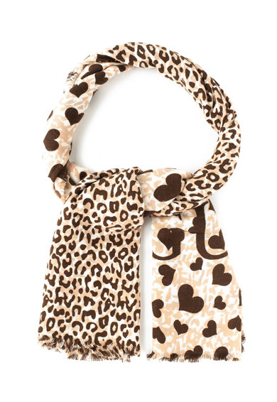 Guess Fular cu model cu inimi si animal print Femei
