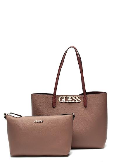 Guess Geanta shopper de piele ecologica, cu etui interior convertibil Femei