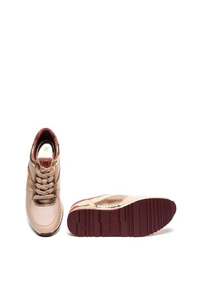 Michael Kors Pantofi sport de piele cu garnituri metalizate Allie Femei