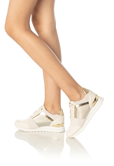 Michael Kors Pantofi sport de piele si piele intoarsa Billie Femei